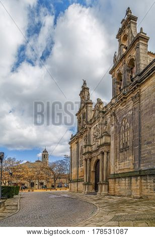 Basilica de Santa Maria de los Reales Alcazares is a Spanish national monument Ubeda Spain