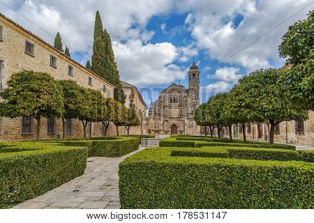 Renaissance Holy Chapel of the Saviou is considered a masterpiece in the region Ubeda Spain