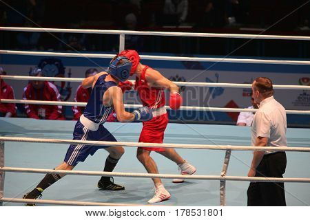 St. Petersburg Russia November 23 2016 Youth World Boxing Championship men
