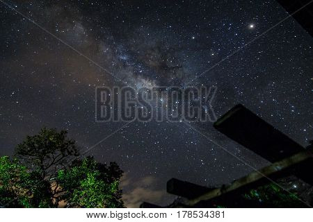 Milkyway rising when the cloud is clear