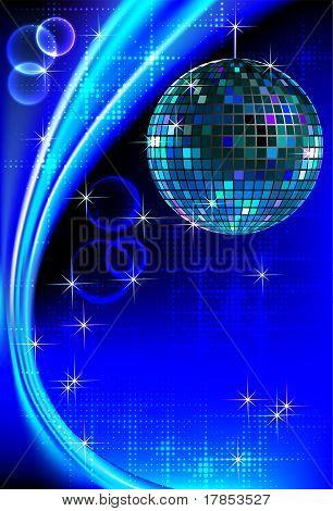 Disco blue light