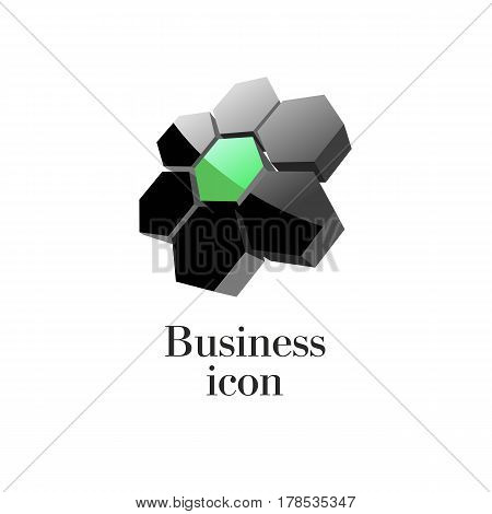 Black 3D Icon For Business Logo