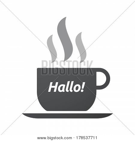 Isolated Coffee Mug With  The Text Hello! In The German Language