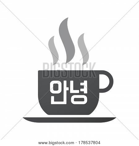 Isolated Coffee Mug With  The Text Hello In The Korean  Language