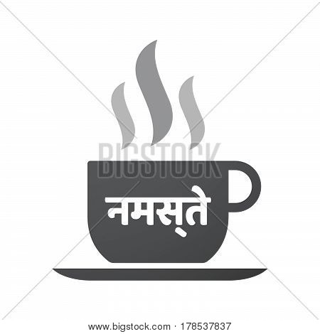Isolated Coffee Mug With  The Text Hello In The Hindi Language