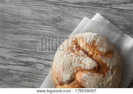 Homemade rye artisan sourdough bread