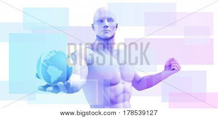 Business Intelligence and Advanced Analytics Platform as Concept 3D Illustration Render