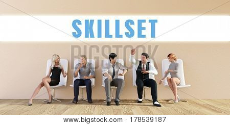 Business Skillset Being Discussed in a Group Meeting 3D Illustration Render