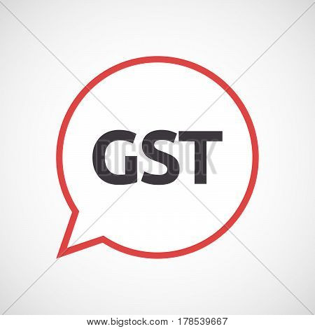 Isolated Comic Balloon With  The Goods And Service Tax Acronym Gst
