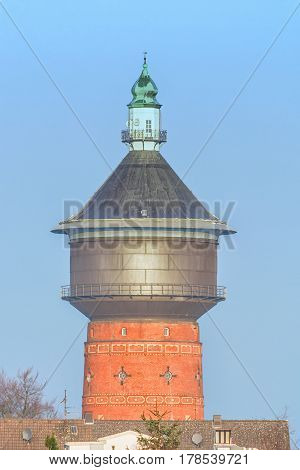 Old Water Tower at the Steeger Street in Velbert Germany.