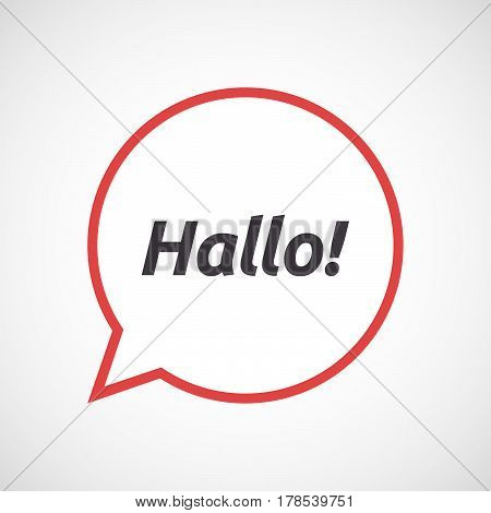 Isolated Comic Balloon With  The Text Hello! In The German Language