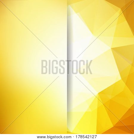 Abstract Background Consisting Of Yellow, White Triangles. Geometric Design For Business Presentatio