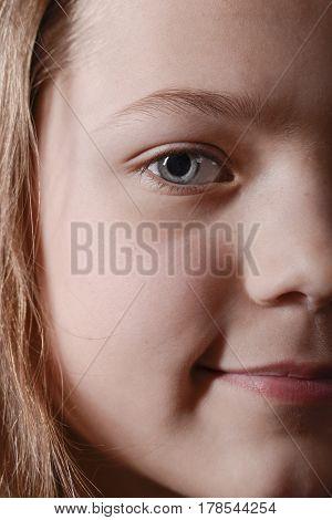 Half Face Girl Portrait