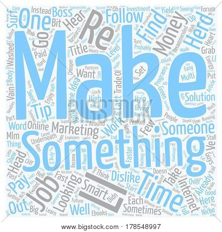 How Not To Make Money Online Or Anywhere Else text background wordcloud concept