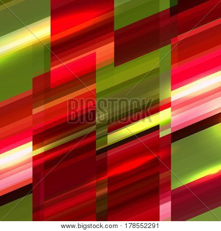 Minimalistic design, creative concept, modern diagonal abstract background Geometric element. Green, yellow and red diagonal lines. Vector illustration