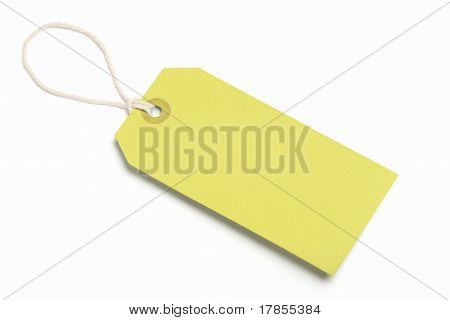 Yellow tag blank