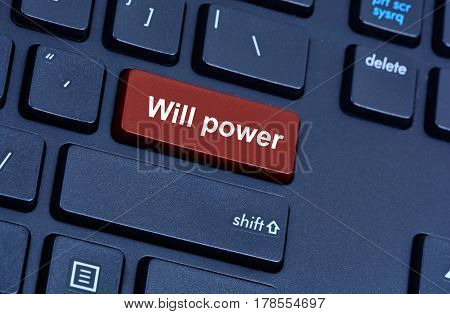 Will power words on computer keyboard button