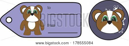 sweet little chubby hamster cartoon gift card in vector format very easy to edit