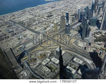 View from top of skycraper in middle east