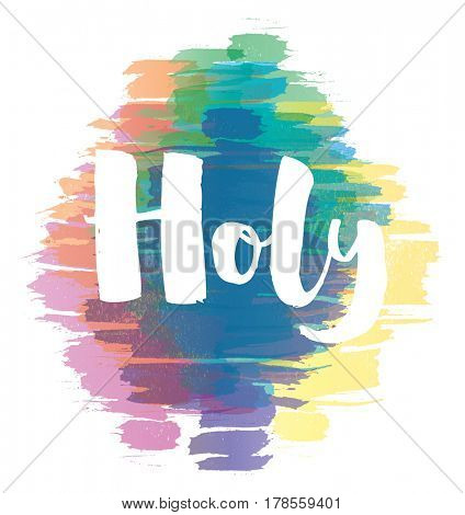 Colorful Happy Holi Background.