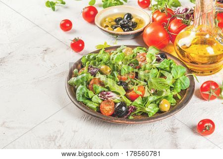 Selection Of Products For Salad And Salad