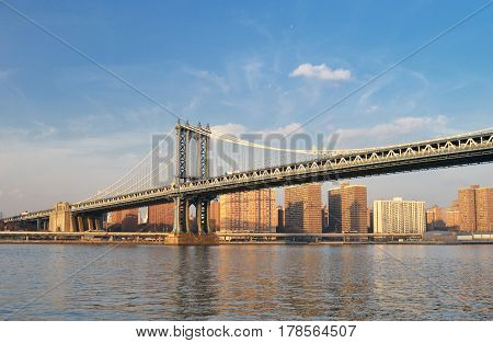 Manhattan Bridge - view from the Brooklyn Bridge Park.