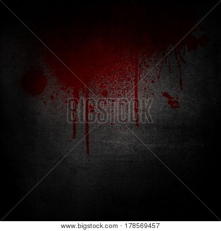 Grunge background with blood splatters and drips