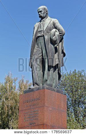 Monument to Taras Shevchenko - the famous Ukrainian poet. Kiev Ukraine
