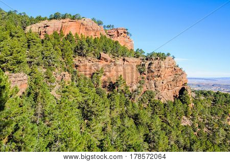 Red Boulders In Pinares Del Rodeno Natural Park, Spain