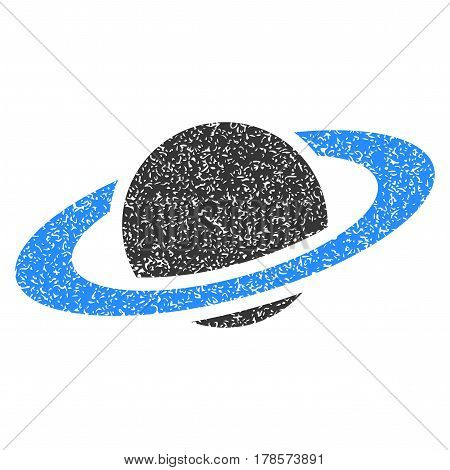 Saturn Planet flat vector icon. Flat style.