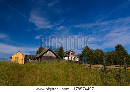 A view of a northen Russian village