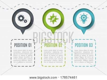 Abstract elements of graph, diagram with 5 steps, options or parts. Creative concept for infographic. Business data visualization. Process chart. Vector template for presentation