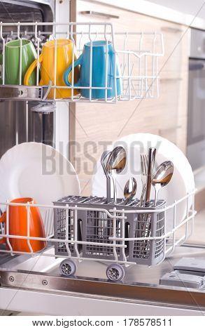Dishware In Dishwasher