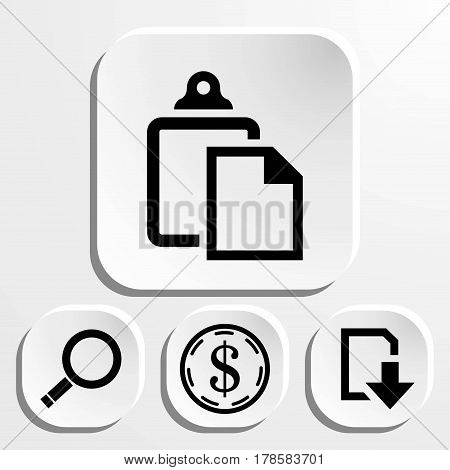 set icon flat design style vector illustration