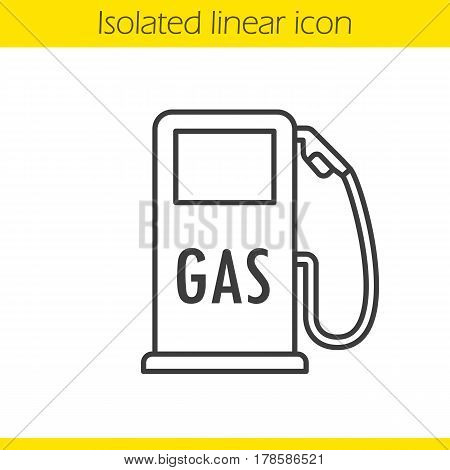 Gas station linear icon. Thin line illustration. Contour symbol. Vector isolated outline drawing