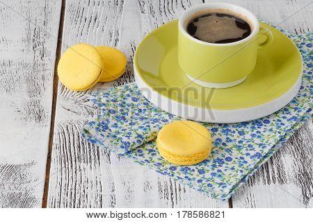 Bright Greenish Coffee Cup