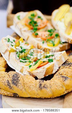 Traditional Polish Sandwich With Lard