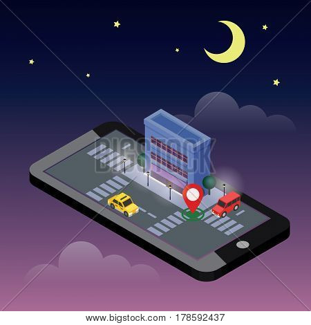 Flat 3d vector isometric illustration. Concept picture