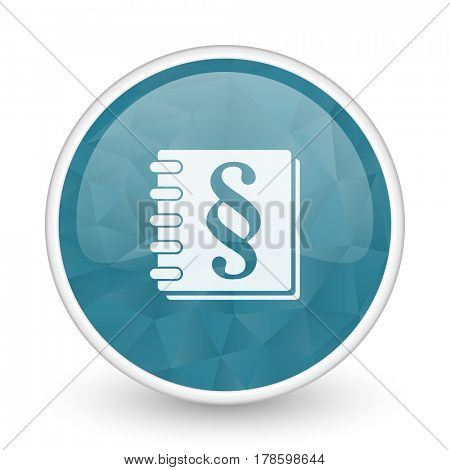 Law brillant crystal design round blue web icon.