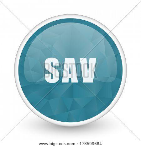 Sav brillant crystal design round blue web icon.