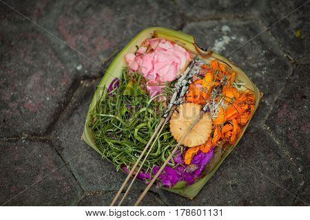 Ritual offerings to the gods of the