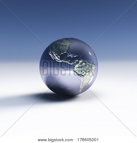 Earth  Elements of this image furnished by NASA   3D Rendering