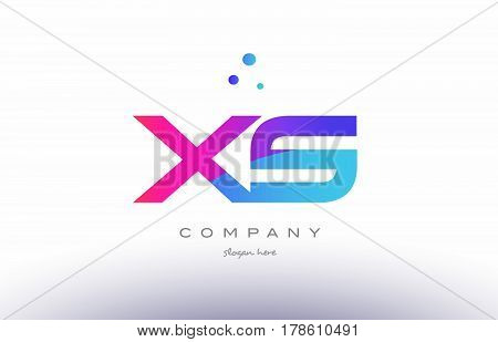 Yi Y I  Creative Pink Blue Modern Alphabet Letter Logo Icon Template