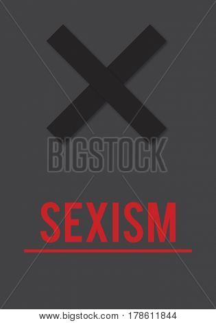 Stop Sexism Racist Discrimination Abuse Threaten