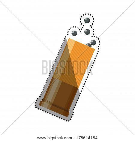 Isolated shotgun bullet vector illustration graphic design