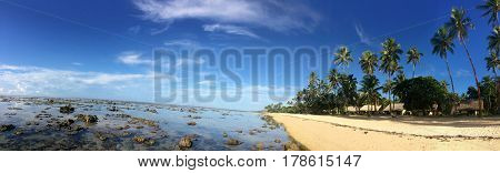 Panoramic Landscape Of The Coral Coast Fiji