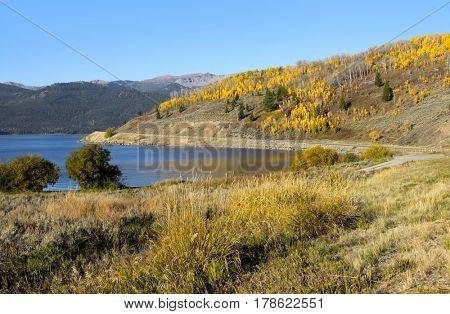 Hebgen lake landscape near Yellowstone national park
