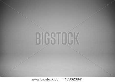 Empty White Gray Studio Backdrop, abstract, gradient grey background for design