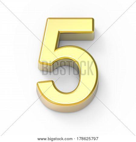 Matte Gold Number 5