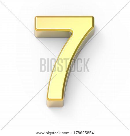 Matte Gold Number 7